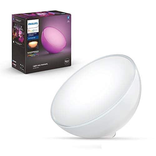 Philips Hue White & Col. Amb. LED Tischleuchte Go, dimmbar, 16 Mio. Farben, steuerbar via App, kompatibel mit Amazon Alexa (Echo, Echo Dot)