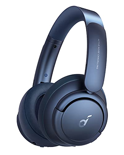 Soundcore by Anker Life Q35 kabellose Kopfhörer Multi-Modus Geräuschunterdrückung, Over-Ear Bluetooth Kopfhörer, LDAC Hi-Res Audio, 40h Akku, Weiche Ohrpolster, Ideal für Homeoffice, Reisen (Blau)