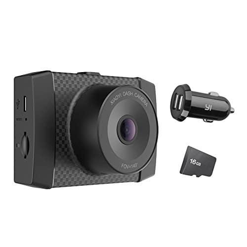 YI Ultra DashCam 2,7K Auflösung 140° Weitwinkelobjektiv Auto Kamera mit MEMS 3-Achse G-Sensor, Sprachbefehl und 6,86 cm (2,7 Zoll) LCD Bildschirm-schwarz