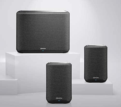 Denon Home Multiroom-Lautsprecher Set, Home Paket 2, HiFi Lautsprecher mit HEOS Built-in, WLAN, Bluetooth, AirPlay2, bestehend aus 2X Denon Home 150 und 1x Denon Home 250, schwarz