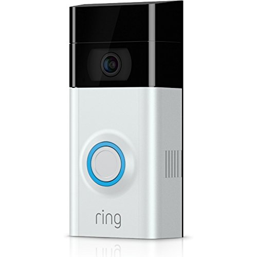 Ring 8VR1S7-0EU0 - Video Doorbell 2, Türklingel-Video 1080p HD (mit WLAN, Bewegungserkennung), Satin Nickel