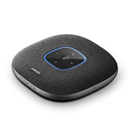 Anker PowerConf S3 Bluetooth Konferenzlautsprecher, 6 integrierte Mikrofone, verbesserter Tonaufnahme, 24 Std Gesprächszeit, Soundcore App Steuerung, Bluetooth 5, USB-C, ideal für Büro und Homeoffice