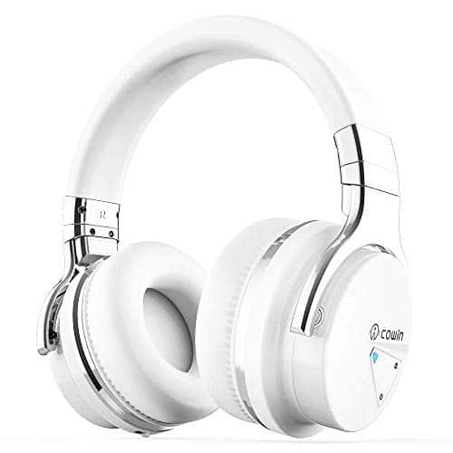 Cowin E7 Active Noise Cancelling Bluetooth Kopfhörer Over Ear Wireless Headphones mit Mikrofon, 30-Stunden-Spielzeit (Weiß)