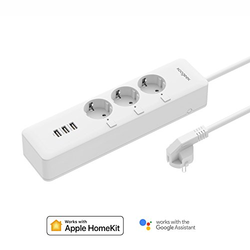Smart Steckdosenleiste Koogeek Intelligent WiFi-stopcontact werkt mit Alexa/Echo mit Apple HomeKit mit Google Assistant mit Siri Remote Control op 2,4 GHz netwerk