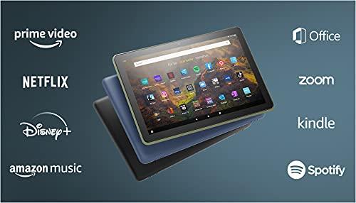 Das neue Fire HD 10-Tablet   25,6 cm (10,1 Zoll) großes Full-HD-Display (1080p), 32 GB, schwarz – ohne Werbung