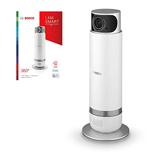 Bosch Smart Home WLAN Überwachungskamera (360° drehbar, kompatibel mit Alexa, für den Innenbereich, kabellos mit Akku, über App / Handy steuerbar)