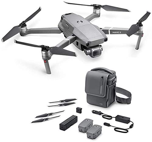DJI Mavic 2 Pro Drohne + Fly More Kit - Zubehör-Kit + Drohne mit Hasselblad Kamera, Video 4K HDR 10 bits, 20 MP 1