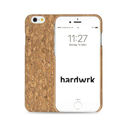 hardwrk Premium Kork Case - kompatibel mit Apple iPhone 6 und 6s - braun - Schutzhülle Handyhülle Cover Hülle mit Kork-Rückseite in Hellbraun