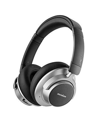 Soundcore Space NC Wireless Noise Cancelling Kopfhörer von Anker mit Touch Control, 20 Stunden Spielzeit, Bluetooth 4.1, faltbares Design für Reisen, Arbeit und Zuhause