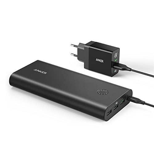 Anker PowerCore+ 26800mAh Premium Aluminium Powerbank Externer Akku mit PowerPort+ 1 Quick Charge 3.0 USB Ladegerät und noch PowerIQ Technologie für iPhone, Galaxy, Nexus Smartphones und Tablets