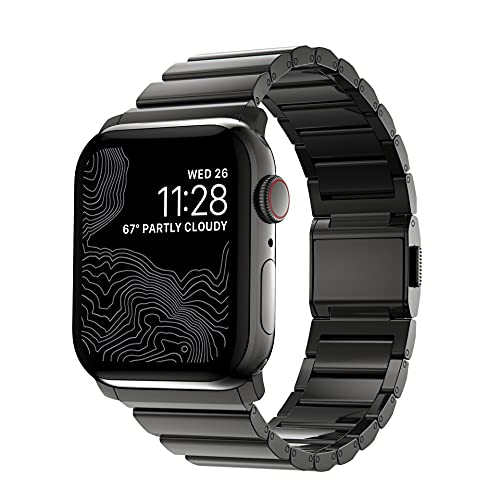 NOMAD Strap Stainless Steel V2 robustes 42/44 mm Apple-Watch-Armband aus Edelstahl