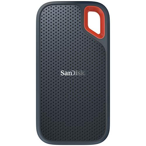 SanDisk Old Version Portable SSD externe SSD 500 GB (Old Version Festplatte mit SSD Technologie 2,5 Zoll, 550 MB/s Übertragungsraten, stoßfest, AES-Verschlüsselung, wasser- und staubfest) grau