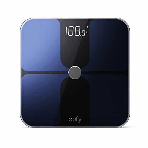 Eufy Smart Personenwaage mit APP, Bluetooth Digitale Körperwaage mit großem LED Display, Gewicht/ Körperfettanteil / BMI / Fitness und Körperanalyse, kg / lb / st Einheit