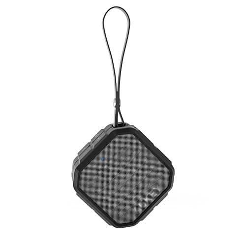 AUKEY Bluetooth Lautsprecher Mini Tragbarer Wireless Speaker Wasserdicht Bassbox IP65 mit Mikrofon und Aux-In für PC, Tablets, Smartphones, und Mp3 Player(SK-M13)