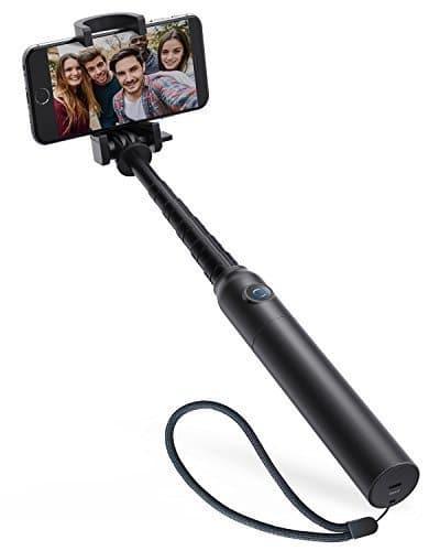 Anker Premium Bluetooth Selfie Stick Stange Stab mit 20 Stunden Akkulaufzeit für iPhone 7 6, Android und alle anderen Smartphones (Schwarz)