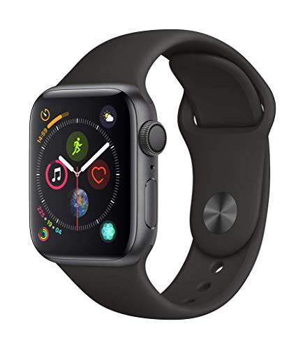 Apple Watch Series 4 (GPS, 40mm) Aluminiumgehäuse Space Grau - Sportarmband Schwarz