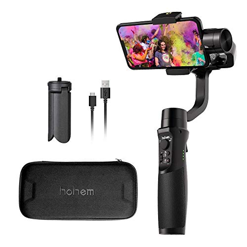 Hohem iSteady Mobile Plus Smartphone Gimbal stabilizer 3-Achsen Handheld Stabilisator für iPhone XS/XR/X/8/8 Plus, Samsung S10, S9, Note 9/8, Huawei P30