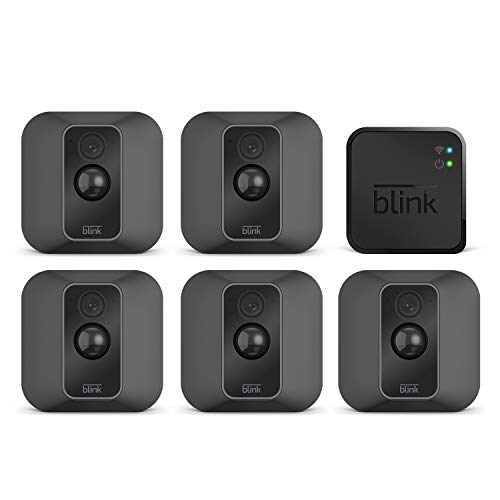 Blink XT2 – Smarte Sicherheitskamera | Für den Außen- und Innenbereich mit Cloud-Speicher, Zwei-Wege-Audio und 2-jähriger Batterielaufzeit | System mit fünf Kameras