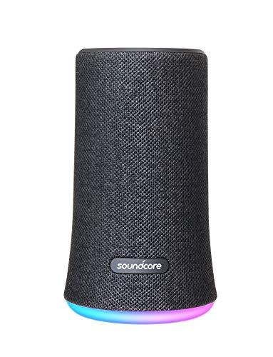 Soundcore Flare Tragbarer Bluetooth Lautsprecher von Anker, 360° Rundum-Sound, Fantastischer Bass & Stimmungs-LED-Licht, IPX7 wasserdichte, 12 Stunden Spielzeit für Feiern & Partys (Schwarz)