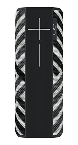 Ulitmate Ears Megaboom Tragbarer Bluetooth-Lautsprecher, Satter Tiefer Bass, Wasserdicht, App-Navigation, Kann mit weiteren Lautsprechern verbunden werden, 20-Stunden Akkulaufzeit - Zebra/schwarz-weiß