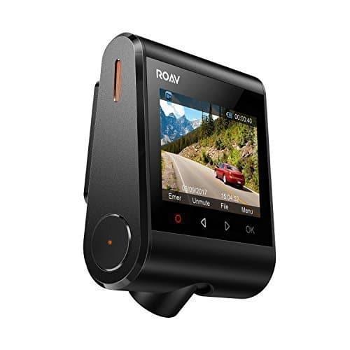 Dashcam Anker ROAV C1, Wifi Auto Kamera mit Sony Exmor Sensor, 1080P Full HD, 145° Weitwinkel, Nachtsicht, mit G-Sensor, WDR, Schleifenaufnahme und Nacht Modus, inkl. Anker 2 Port Kfz Ladegerät mit Power IQ Technologie