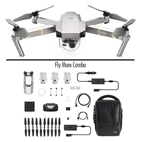 DJI Mavic Pro Platinum Combo - Drohne mit 4K Full-HD Videokamera inkl. Fernsteuerung I 12 Megapixel Bilderqualität und bis zu 7 km Reichweite - Platin