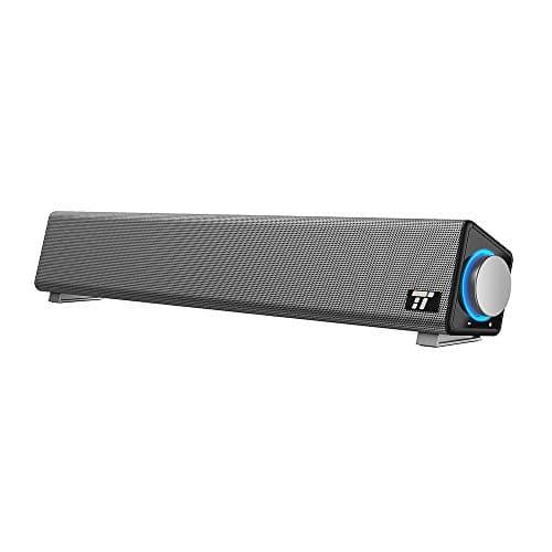 TaoTronics PC Lautsprecher Soundbar Wired USB Computerlautsprecher mit Mikrofoneingang und Kopfhörerausgang, umfassender Kompatibilität, für PCs/Laptops/Smartphones/Tablets/Beamer