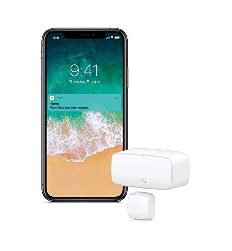 Eve Door & Window - Smarter Kontaktsensor für Türen/Fenster (Dt. Markenqualität), Bluetooth, Thread, Mitteilungen (offen/zu), automatische Aktivierung von Geräten & Szenen, keine Bridge, Apple HomeKit