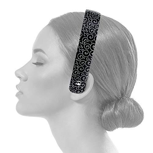 Paww SilkSound-Kopfhörer - stilvolle Faltbare drahtlose Bluetooth-Freisprecheinrichtung mit 8 Stunden Spielzeit für Geschäftsreisen oder den Einsatz im Freien (Schwarzer Onyx)