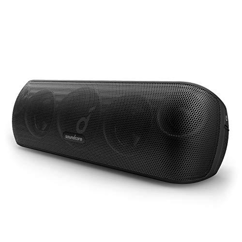 Soundcore Motion+ Bluetooth Lautsprecher mit Hi-Res 30W Audio, Intensives BassUp, Kabelloser HiFi Lautsprecher mit App, flexibler EQ, 12h Akkulaufzeit, IPX7 Wasserschutz, USB C Konnektivität