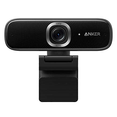 Anker PowerConf C300 Smart Full HD Webcam, mit Mikrofon, AI Framing & Autofokus, 1080p, 60 FPS Geräuschunterdrückung, Regulierbares Blickfeld, HDR, Lichtkorrektur, Zoom-Zertifiziert