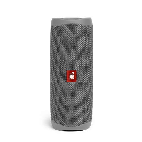 JBL Flip 5 Bluetooth Box in Grau – Wasserdichter, portabler Lautsprecher mit umwerfendem Sound – Bis zu 12 Stunden kabellos Musik abspielen