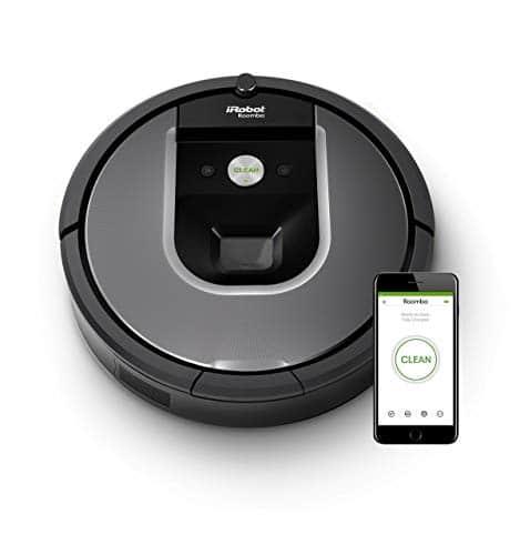 iRobot Roomba 960 der Volks-Saugroboter mit starker Saugkraft, 2 Multibodenbürsten, Navigation für mehrere Räume, lädt sich auf und setzt Reinigung fort, Ideal für Tierhaare, App-Steuerung,Dirt Detect