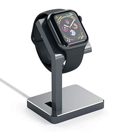 Satechi Halterung für Apple Watch Aluminium Serie 1, 2und 3, Halterung Ladestation, Station iWatch-Lader mit bequem Blickwinkel für Apple Watch 42mm & 38mm (Space Grau)