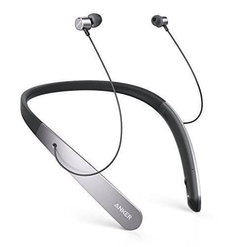 Anker SoundBuds Life leichte Bluetooth Kopfhörer kabellos mit Nackenbügel, Neckband Headset, IPX5 Strahlwassergeschützt mit aktiver Lärmreduzierung, Mikrofon und 20 Std. Spielzeit (Grau)
