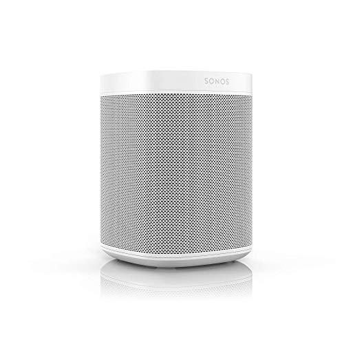 Sonos One Smart Speaker, weiß - Intelligenter WLAN Lautsprecher mit Alexa Sprachsteuerung, Google Assistant & AirPlay - Multiroom Speaker für unbegrenztes Musikstreaming, mit Sprachsteuerung