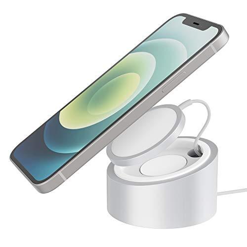 Stouchi Ständer Kompatibel mit Mag Safe Ladegerät Heavy Duty Premium Metal Mag Safe Halterung Holder für iPhone 12/ iPhone 13 Serie Phone(Hinweis: Mag-Safe Ladegerät Nicht im Lieferumfang enthalten)
