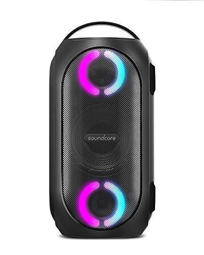 Anker Soundcore Rave Mini, Kompakter Party Lautsprecher, starker 80W Sound, IPX7 wasserdicht, USB-Powerbank Akku, Lichteffekte, Soundcore App, Party Spiele inklusive, für Draußen, Strand, Garten