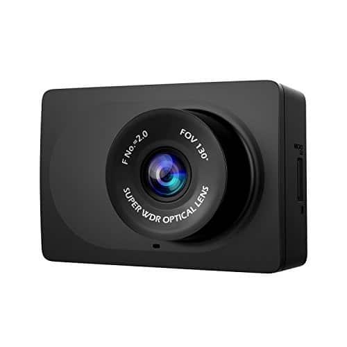 YI Kompakt Dash Camera 1080p Auto Kamera Full HD Dashcam mit Nachtsicht 6,68 cm (2,7 Zoll) LCD Bildschirm 130° Weitwinkelobjektiv, Auto DVR Kfz Kamera Dash Kamera mit G-Sensor, WLAN und APP für IOS/Android - schwarz