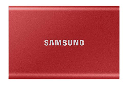 Samsung T7 Portable SSD - 500 GB - USB 3.2 Gen.2 Externe SSD Metallic Red (MU-PC500R/WW)