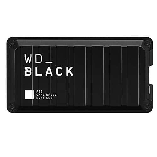 WD_Black P50 Game Drive 2 TB externe Festplatte (SuperSpeed USB 3.2 Gen 2x2, stoßfest, Lesegeschwindigkeiten bis 2000 MB/s ) Schwarz