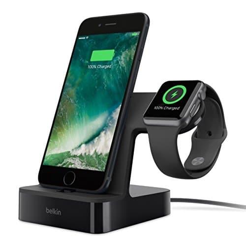 Belkin PowerHouse 2-in-1 Ladestation (geeignet für die Apple Watch und das iPhone mit 1,2m Ladekabel) schwarz