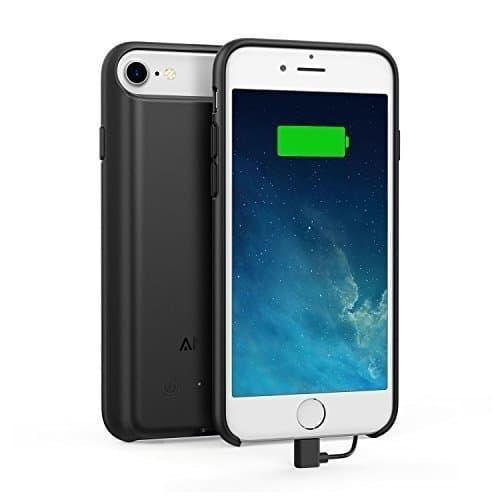 Anker PowerCore iPhone 7 Akku Hülle Zusatzakku für iPhone 7 / 6s / 6 (4.7 Zoll), 2200mAh Kapazität, 80% Extra Akku [Apple MFi Zertifiziert] (Schwarz)