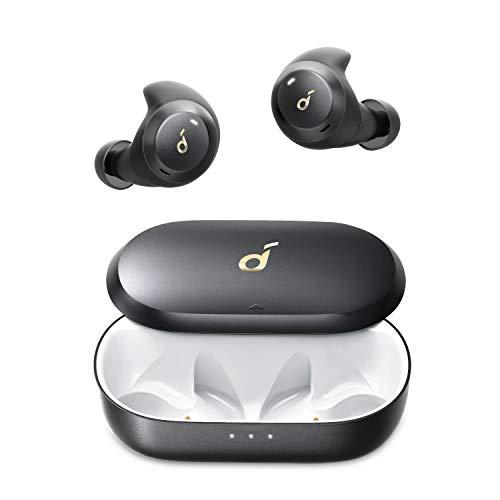 Soundcore by Anker Spirit Dot 2 Bluetooth Kopfhörer, Tiefer Bass, Klares Klangprofil, IPX7 wasserdicht & schweißfest, Blitzschnelles Aufladen, Bequeme AirWings, Mini Ohrhörer für Sport, Fitnessstudio