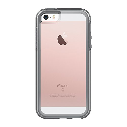 OtterBox Symmetry Clear hoch-transparente sturzsichere Schutzhülle für Apple iPhone 5/5S/SE, Grau Crystal