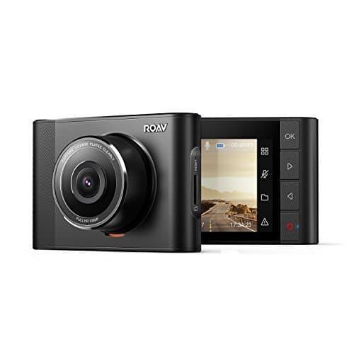 Dashcam Anker Roav A1, Videoaufnahmegerät mit Sony Exmor 323 Sensor, 1080P FHD, mit Nachtsicht und Weitwinkelansicht, mit WLAN, Gravitäts-Sensor, WDR, für erstklassige Loopaufnahmen, mit starkem Nachtmodus