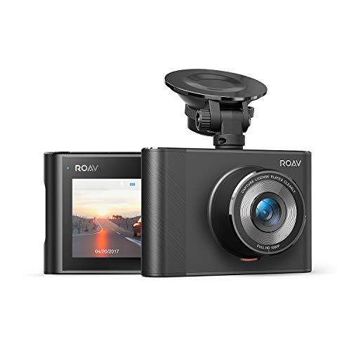 Dashcam Anker Roav A1, Videoaufnahmegerät mit Sony Exmor 323 Sensor, 1080P FHD, mit Nachtsicht und Weitwinkelansicht, mit WLAN, Gravitäts-Sensor, WDR, für Loopaufnahmen, mit starkem Nachtmodus