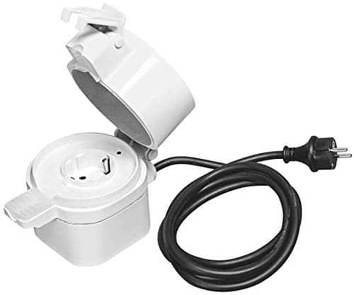 OSRAM Smart+ Outdoor Plug, ZigBee schaltbare Steckdose, für die Lichtsteuerung in Ihrem Smart Home, Direkt kompatibel mit Echo Plus und Echo Show (2. Gen.), Kompatibel mit Philips Hue Bridge