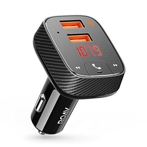 ROAV Anker Bluetooth FM Transmitter mit Auto Finder Auto Ladegerät 24W/4.8A, SmartCharge Car Kit F2 mit Freisprecheinrichtung/GPS Tracker App für iOS und Android Geräte