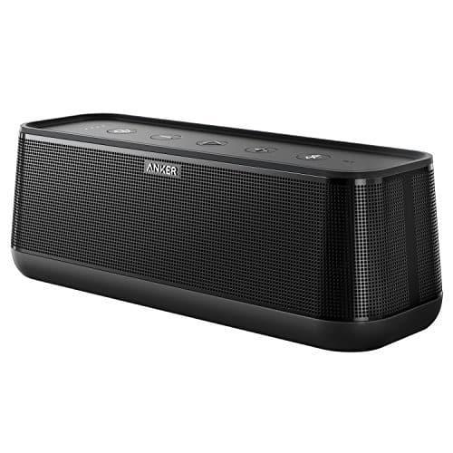 Anker SoundCore Pro+ 25 W Bluetooth Lautsprecher mit tiefem Bass, erstklassigem Klang, 18 Stunden Akkulaufzeit, Wasserdicht, mit HiFi&BassUp Technologie für Zuhause, Garten und viel mehr